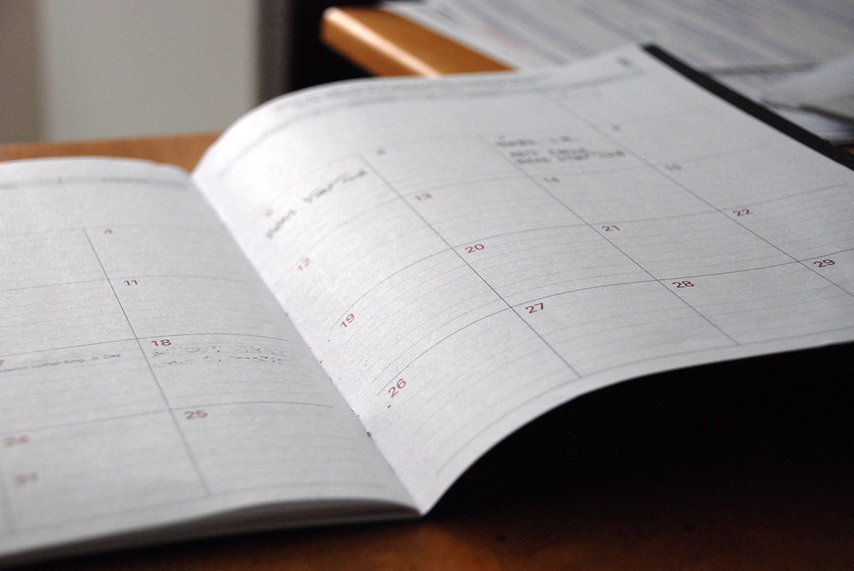 picture of personal schedule