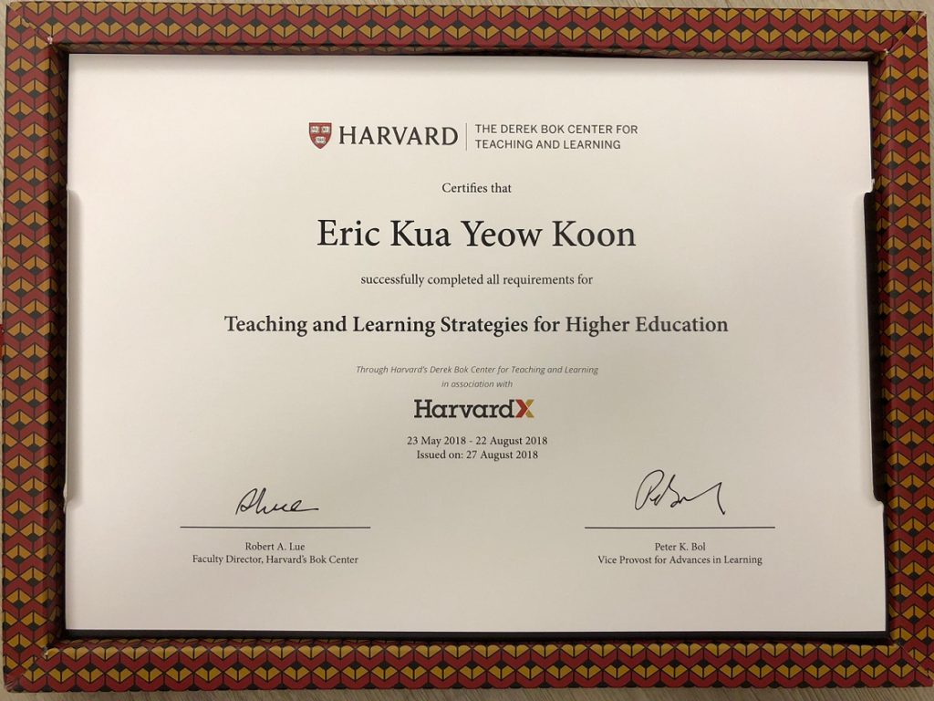 Teaching and Learning Course from Harvard University
